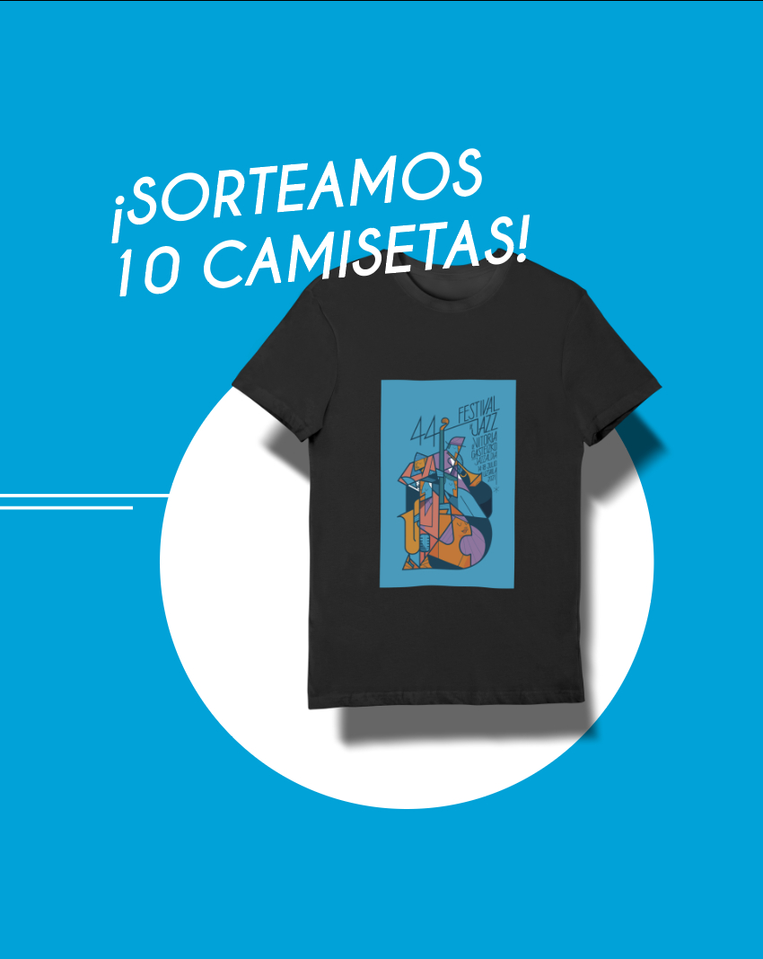 El Festival de Jazz de Vitoria-Gasteiz sortea 10 camisetas oficiales de la 44º edición
